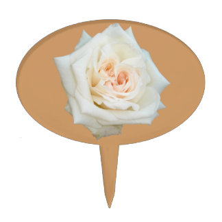 Close Up View Of A Beautiful White Rose Isolated Cake Toppers