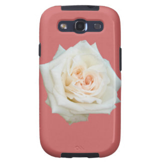 Close Up View Of A Beautiful White Rose Isolated Galaxy S3 Covers