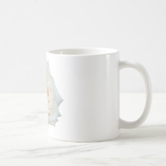 Close Up View Of A Beautiful White Rose Isolated Coffee Mugs