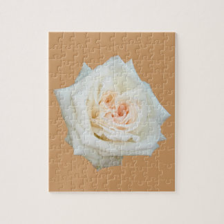 Close Up View Of A Beautiful White Rose Isolated Puzzle
