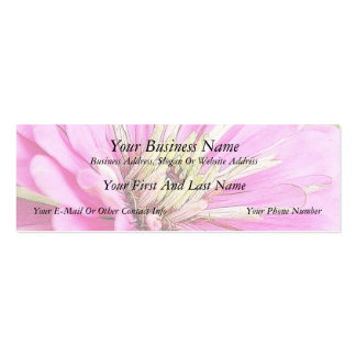 Close-up view of a delicate pink zinnia business cards