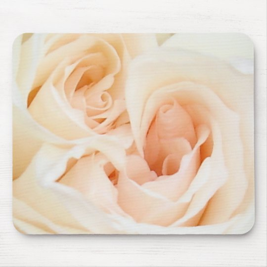Close Up View Of A Romantic White Wedding Rose Mouse Pad