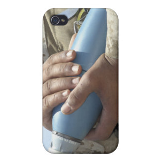 Close-up view of a soldier cradling a munition iPhone 4/4S cover