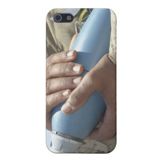Close-up view of a soldier cradling a munition iPhone SE/5/5s cover