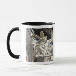 Close-up view of components mug