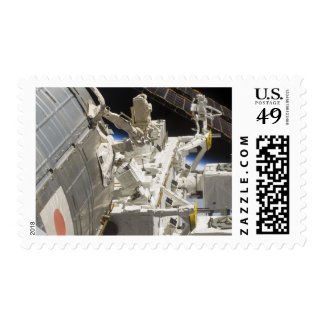 Close-up view of components postage