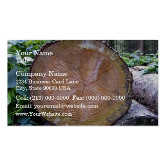 Close up view of Cut Tree Disk Texture Business Card