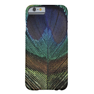 Close up view of eyespot on male peacock feather barely there iPhone 6 case