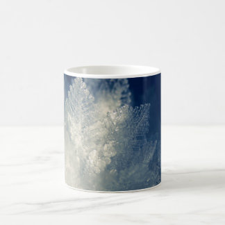 Close Up View of Ice Cold Morning Frost Coffee Mug