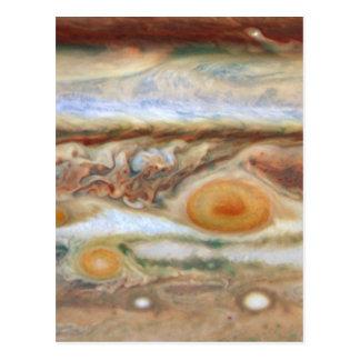 Close Up View of Planet Jupiter's Big Red Spot Postcard