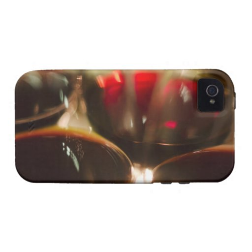 Close-up view of red wine glasses Case-Mate iPhone 4 cover