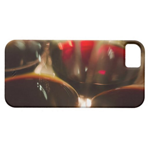 Close-up view of red wine glasses iPhone 5 cover
