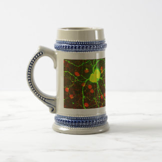 Close Up View of Retinal Ganglion Cell Beer Stein