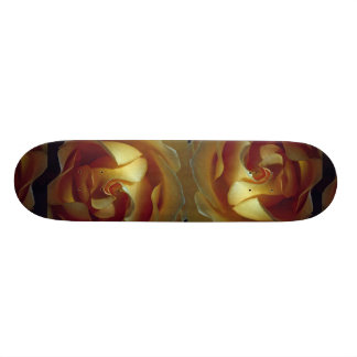 Close-up view of soft yellow rose skateboard