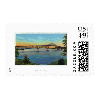 Close-up View of the New Bridge Postage