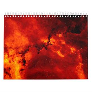 Close Up View of the Rosette Nebula Caldwell 49 Wall Calendar