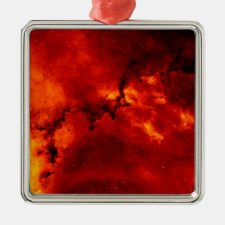 Close Up View of the Rosette Nebula Caldwell 49 Metal Ornament