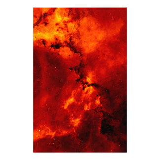 Close Up View of the Rosette Nebula Caldwell 49 Stationery