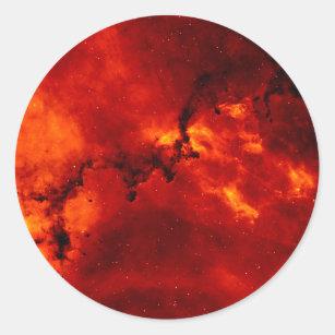 Close Up View of the Rosette Nebula Caldwell 49 Classic Round Sticker