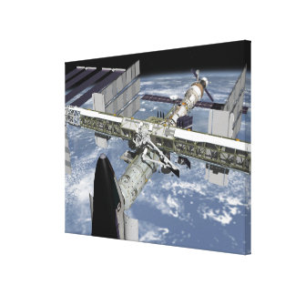 Close up view of the Shuttle docked Canvas Print