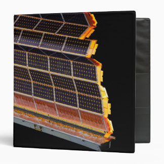 Close-up view of the solar arrays binder
