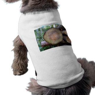 Close up view of Tree Disk Pet Tshirt