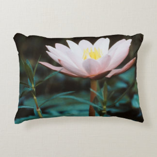 Close-Up view of Water Lily at Inle Lake Accent Pillow
