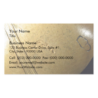 Close-Up view of wooden bowl Business Card