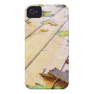 Close-up view on a wet green and yellow leaves of iPhone 4 Case-Mate case