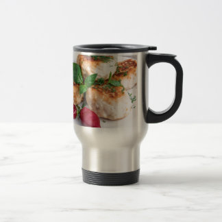Close Up view on rissole of minced chicken Travel Mug