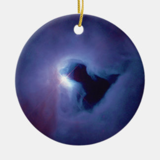 Close-up View Reflection Nebula in Orion NGC 1999 Ceramic Ornament