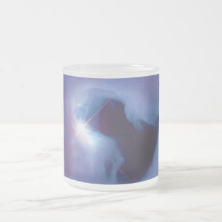 Close-up View Reflection Nebula in Orion NGC 1999 Frosted Glass Coffee Mug