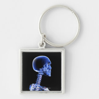 Close up x-ray of the bones in the neck keychain
