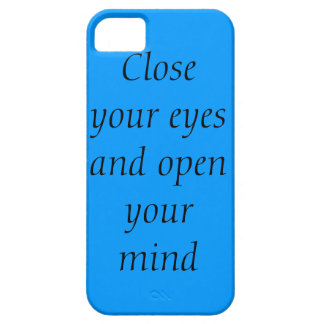 Close your eyes and open your mind iPhone SE/5/5s case