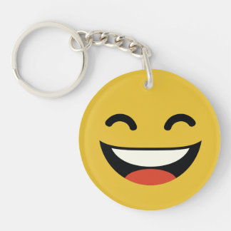 Close your eyes laughing emoji keychain