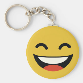Close your eyes laughing emoji keychain