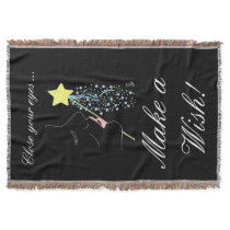 Close Your Eyes ... Make a wish! Throw Blanket