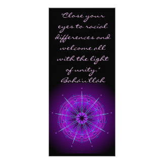 Close Your Eyes Race Unity Quote Rack Card