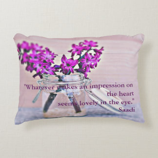 Close your eyes. You will see better. Decorative Pillow