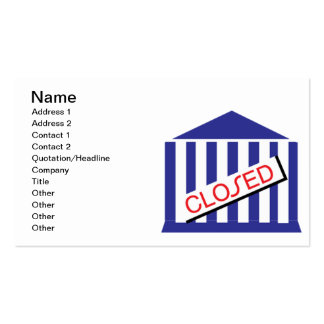 Closed Business Card Template