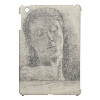 Closed eyes by Bertrand-Jean Redon iPad Mini Cases