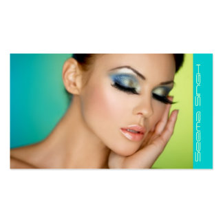 Closed Eyes Makeup-New Background Business Card