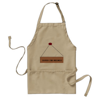 Closed for Business apron