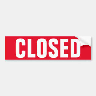 Closed for business window door sign vinyl sticker