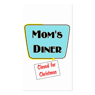 Closed for Christmas Mom's diner t-shirts & gifts. Double-Sided Standard Business Cards (Pack Of 100)
