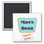 Closed for Christmas Mom's diner t-shirts & gifts. Refrigerator Magnets