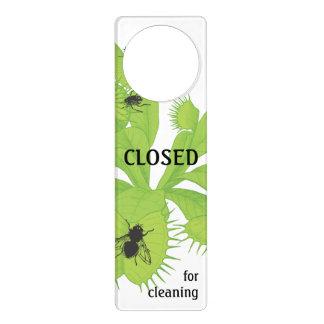 Closed for Cleaning Flytrap with Flies Door Hanger
