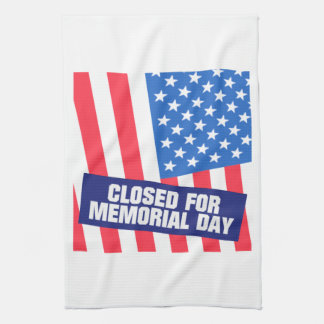Closed For Memorial Day Hand Towel