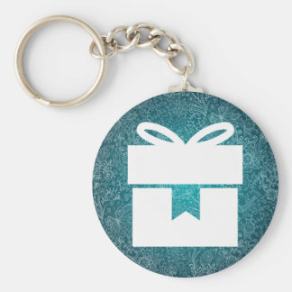 Closed Giftboxes Pictograph Basic Round Button Keychain
