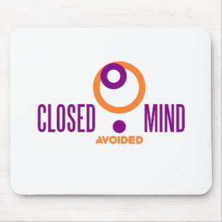 closed mind avoided mouse pad